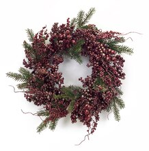 Metallic Copper Berries & Pine Wreath