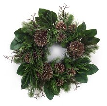 Pine Cone Greenery Wreath