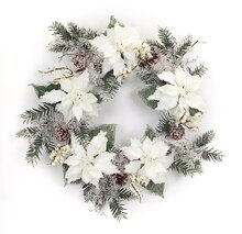 Icy Poinsettia Wreath