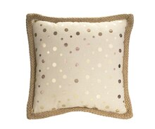 Foil Polka Dot Pillow, Set of 2