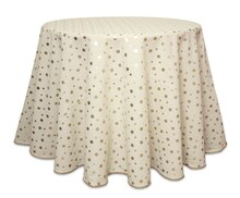 Foil Polka Dot Table Cloth