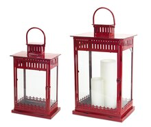 Square Red Lanterns, Set of 2