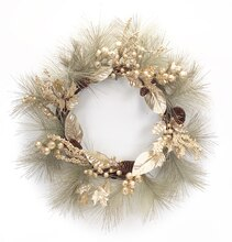 Gilded Pine Wreath With Berries