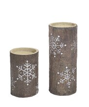 Snowflake Design Candle Holder Set, medium