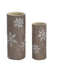 Snowflake Vase, Set of 2
