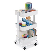 White Lexington 3-Tier Rolling Cart By Recollections