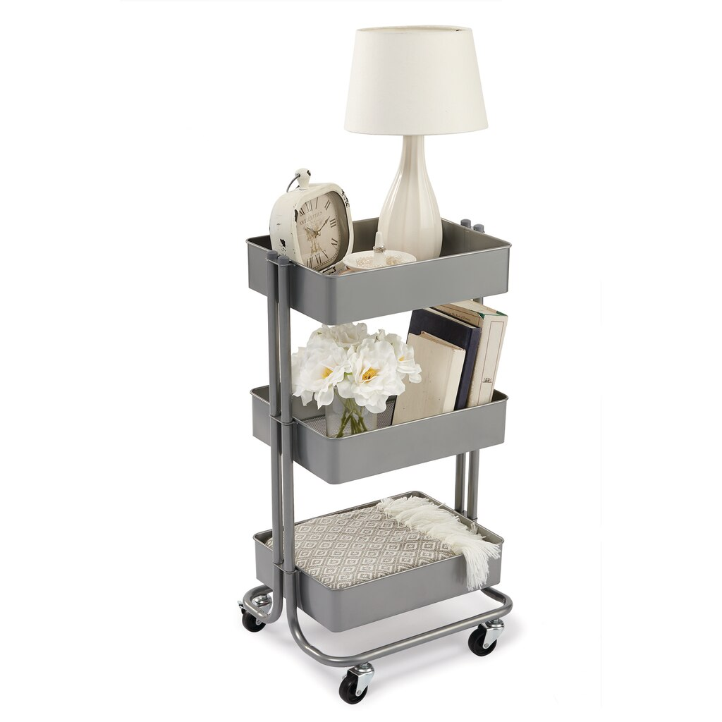 Find The Gray Lexington 3 Tier Rolling Cart By
