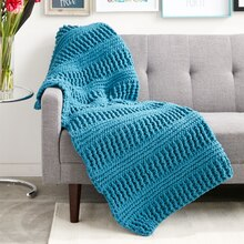 Bernat® Blanket™ Here & There Crochet Blanket, medium