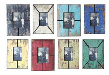 Casual Country Distressed Photo Frames, Set of 8