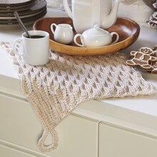 Pinecone Lodge Crochet Dish Towel, medium