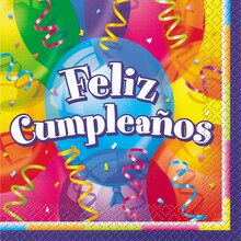 Feliz Cumpleanos Birthday Luncheon Napkins, 16ct