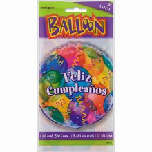 Foil Feliz Cumpleanos Birthday Balloon, 18""