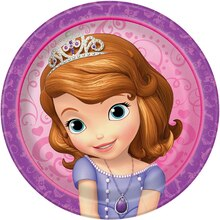"7"" Sofia The First Party Plates, 8ct"