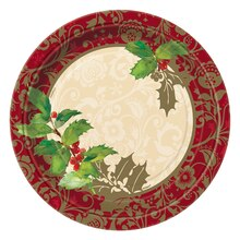 "9"" Elegant Holiday Party Plates, 8ct"