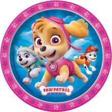 "7"" Girl PAW Patrol Party Plates, 8ct"