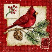 Cardinal Christmas Luncheon Napkins, 16ct