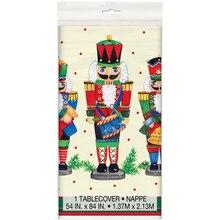 Plastic Nutcracker Christmas Tablecloth
