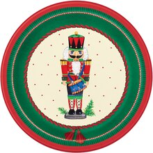 "7"" Nutcracker Christmas Party Plates, 8ct"
