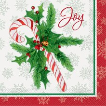 Candy Cane Christmas Luncheon Napkins, 16ct