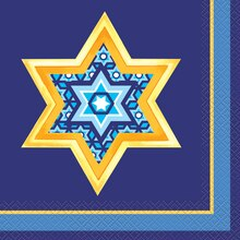 Happy Hanukkah Luncheon Napkins, 16ct