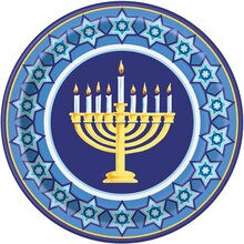 "9"" Happy Hanukkah Party Plates, 8ct"