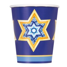 9oz Happy Hanukkah Paper Cups, 8ct