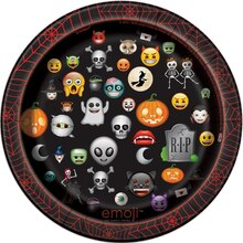 "7"" Emoji Halloween Party Plates, 8ct, medium"