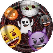 "9"" Emoji Halloween Party Plates, 8ct, medium"