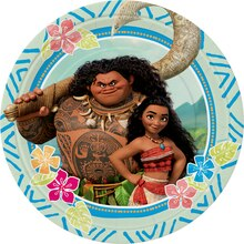 "7"" Disney Moana Party Plates, 8ct, medium"