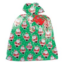 Jumbo Plastic Christmas Santa Claus Gift Bag, medium