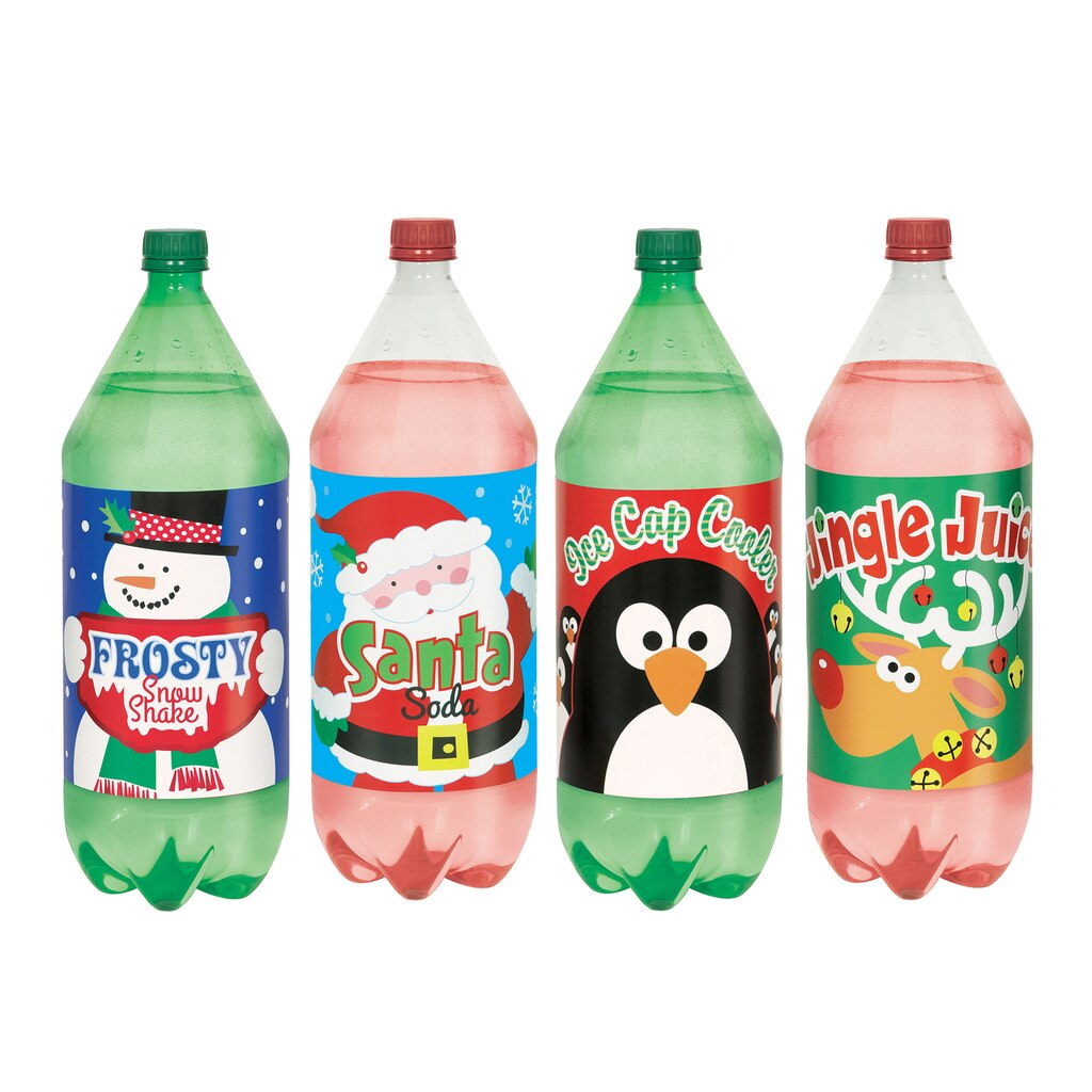 Christmas Soda Bottle Stickers