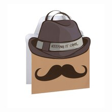 Cool Mustache Gift Bag