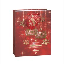 Sparkle Ornaments Holiday Gift Bag