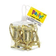 Mini Plastic Gold Trophy Party Favors, 4ct, medium