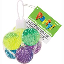 Glitter Bouncy Ball Party Favors, 6 Pack