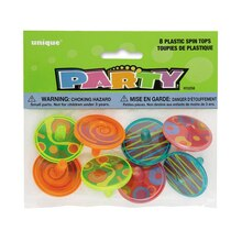 Plastic Spin Top Party Favors, 8ct