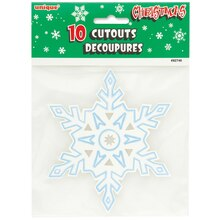 "5"" Paper Cutout Snowflake Winter Decorations, 10ct"