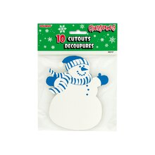 "5"" Paper Cutout Snowman Holiday Decorations, 10ct"