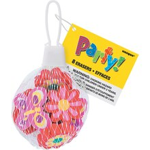 Girly Eraser Party Favors, Assorted 8ct