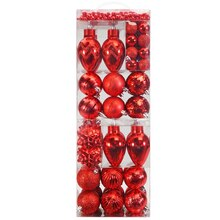 Red Christmas Ornament Set By Celebrate It