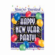 Blast New Years Eve Invitations, 8ct