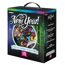 Colorful New Years Eve Party Supplies Kit for 10 Package