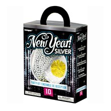 Silver New Years Eve Party Accessories Kit for 10