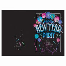 Cheer New Years Eve Invitations, 8ct