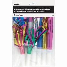 Assorted Foil Party Squawkers, 8ct