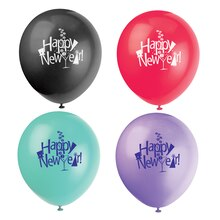"12"" Latex Countdown New Years Eve Balloons, 8ct"