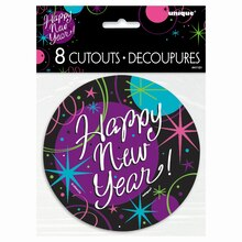 "5"" Mini Stellar New Years Eve Cutout Decorations, 8ct Packaged"