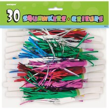 Fringed Party Squawkers, 30ct