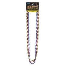 Metallic Egg Party Bead Necklaces, 4ct