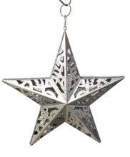 Silver LED Lasercut Star By Ashland